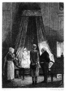 ilustração para Histórias Extraordinárias de Edgar Alan Poe.